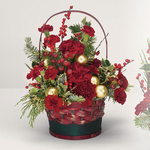 Large Yuletide Greetings Basket - $54 Flower Arrangements, Flower, Florist, Print-a-Bunch Ottawa - Orleans Florist, Great for a Birthday and Anniversary