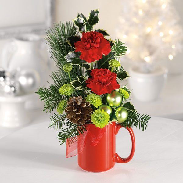 Santa's Cocoa Mug - $29 Flower Arrangements, Flower, Florist, Print-a-Bunch Ottawa - Orleans Florist, Great for a Birthday and Anniversary