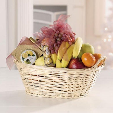 Fruit & Gourmet Basket - from $75 Flower Arrangements, Flower, Florist, Print-a-Bunch Ottawa - Orleans Florist, Great for a Birthday and Anniversary