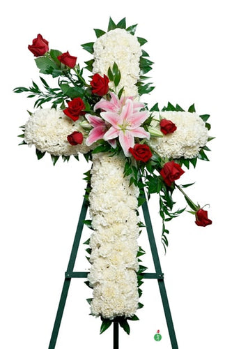 Cross from Heaven - Starting at $199 Flower Arrangements, Flower, Florist, Print-a-Bunch Ottawa - Orleans Florist, Great for a Birthday and Anniversary