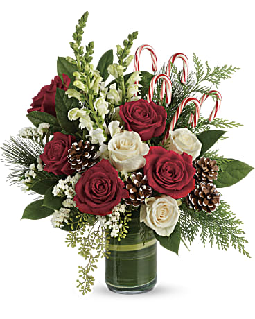Festive Pines Bouquet Flower Arrangements, Flower, Florist, Print-a-Bunch Ottawa - Orleans Florist, Great for a Birthday and Anniversary