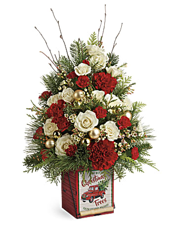 Teleflora's Vintage Greetings Tree Flower Arrangements, Flower, Florist, Print-a-Bunch Ottawa - Orleans Florist, Great for a Birthday and Anniversary