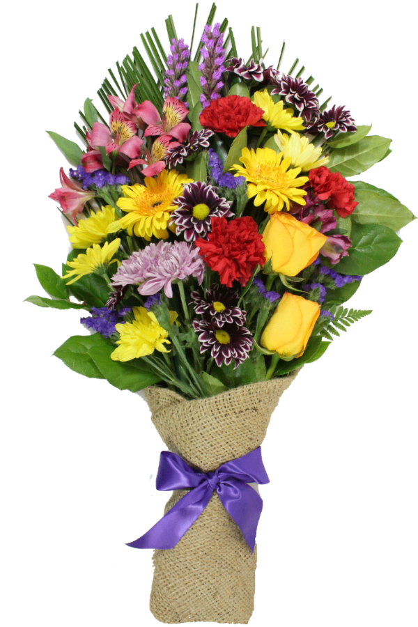 Burlap presentation bouquet - From $40 Flower Arrangements, Flower, Florist, Print-a-Bunch Ottawa - Orleans Florist, Great for a Birthday and Anniversary