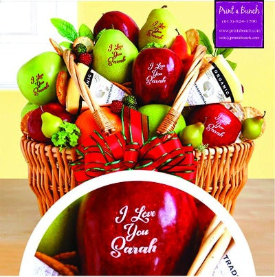 Fruit baskets to show appreciation.  Print a special message or a company logo. Ottawa florists delivers a unique gift experience. Christmas gift giving.