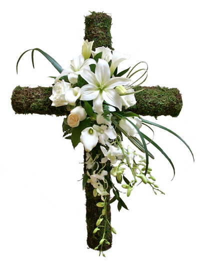 Nature's Cross - Starting from $160 Flower Arrangements, Flower, Florist, Print-a-Bunch Ottawa Florist,