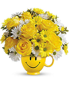 Teleflora Happy Face Mug - Anniversary Flower Arrangements, Flower, Florist, Print-a-Bunch Ottawa - Orleans Florist, Great for a Birthday and Anniversary