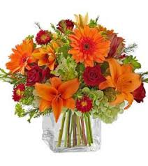 Simple Thanksgiving vase arrangement - From $60 Flower Arrangements, Flower, Florist, Print-a-Bunch Ottawa - Orleans Florist, Great for a Birthday and Anniversary