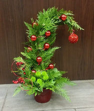 Load image into Gallery viewer, Christmas decoration with Whoville tree. Ottawa florist prints on ornaments and flowes
