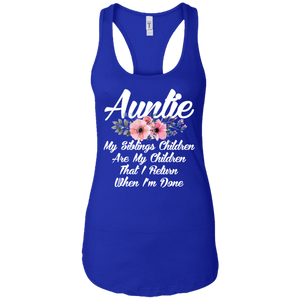 Auntie that I return when I_m done tshirt cool aunt unisex T-shirt