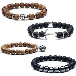 Beads bracelet High quality Natural wooden Buddha head bead bracelet  Lucky Natural stone Beads bracelets for women & men