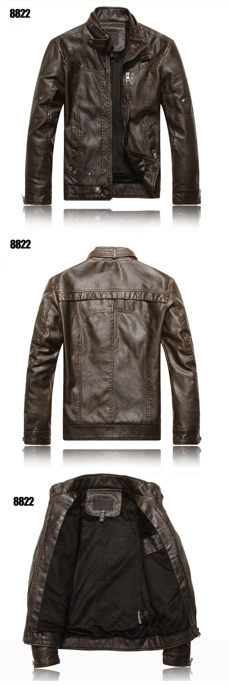 b9ff746ecee New arrive brand motorcycle leather jacket men