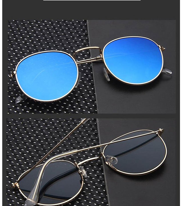2019 Metal Round Vintage Sunglasses Women Mirror Classic Retro Street Beat Glasses Men Glasses Driving Oculos De Sol