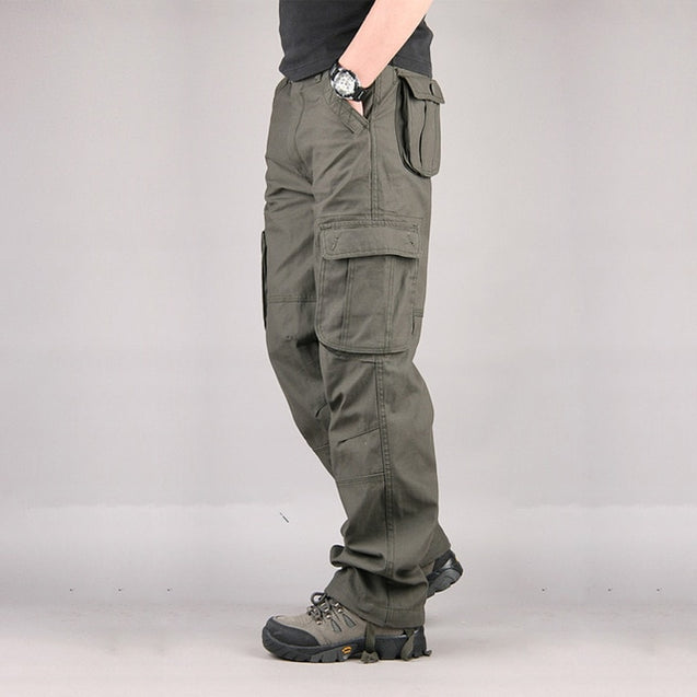 Men's Cargo Pants Casual Mens Pants Multi Pocket Military Overall Men Sweatpants Tactical Trousers Pantalon Hombre Plus size 44