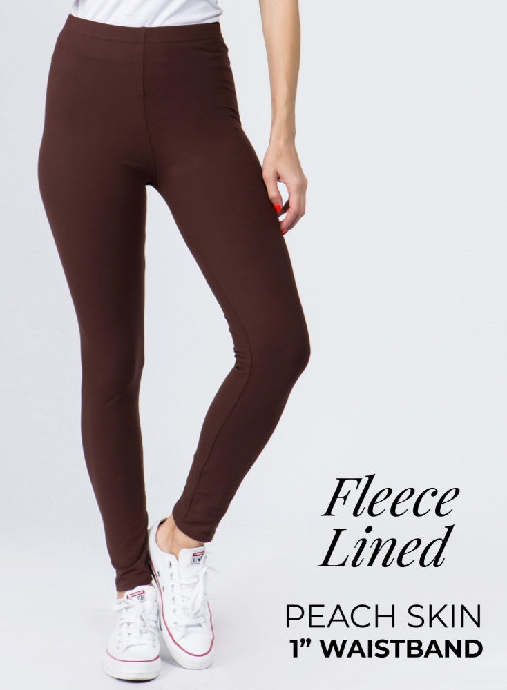 Brown Fleece Leggings