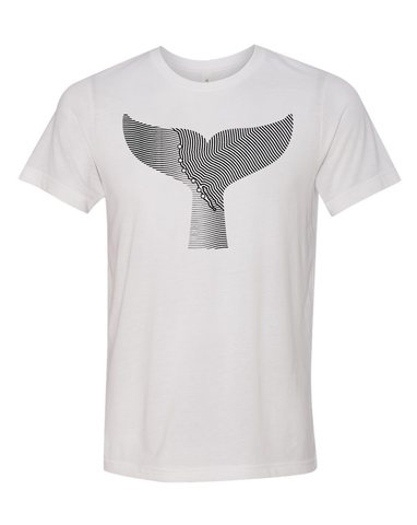 Gray Whale Tee |  White + Black