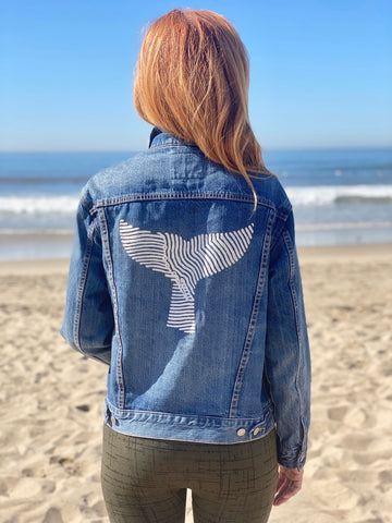 Gray Whale Gin Levi's Custom Trucker Jacket