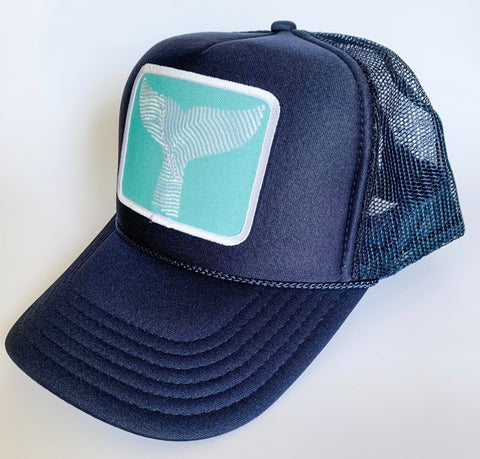 Gray Whale Gin Trucker hat with Patch