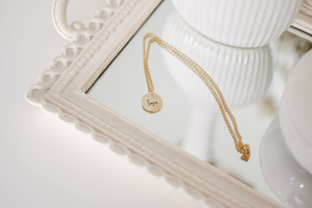 Hope 14k Gold Filled Disc Necklace