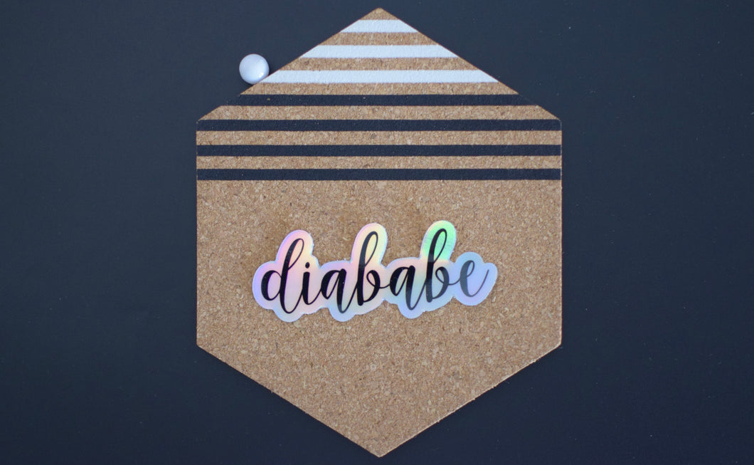 Diababe Holographic Sticker