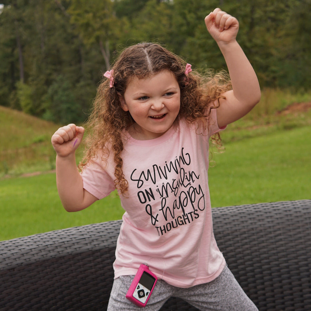 KIDS Surviving on Insulin & Happy Thoughts :: SIZE 5T, M