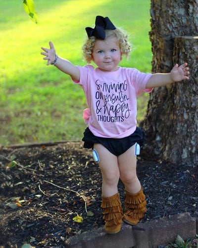 Surviving on Insulin & Happy Thoughts : Toddler Tee : Multiple Colors