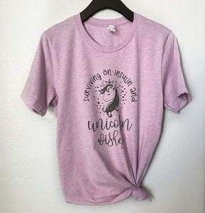 Surviving on Insulin & Unicorn Wishes - SIZE L