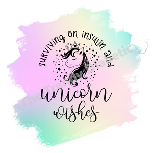 Unicorn Wishes Die cut clear Sticker
