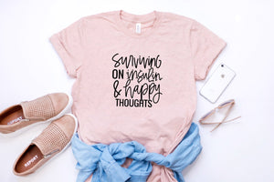 Surviving on Insulin & Happy Thoughts : Unisex Fit : Multiple Colors