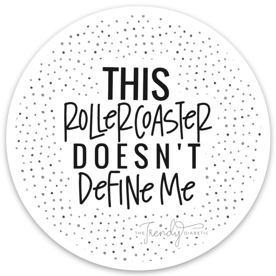 This Rollercoaster doesn't define me Sticker