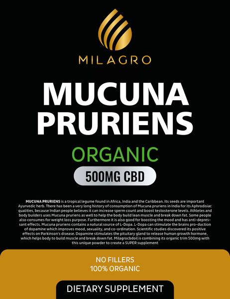 Mucuna pruriens 500mg cbd powder