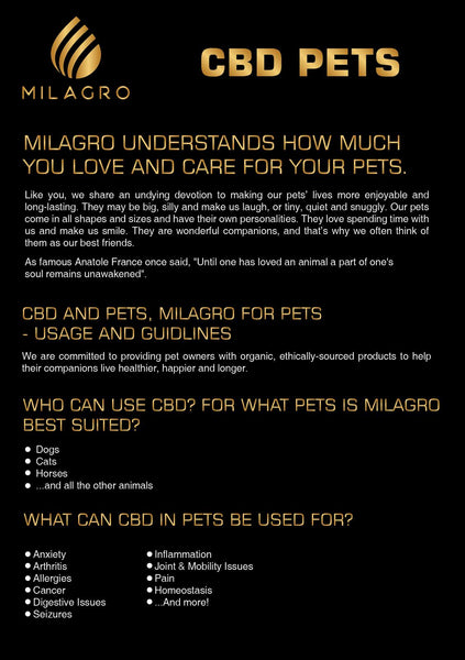 Milagro Pet CBD Oil