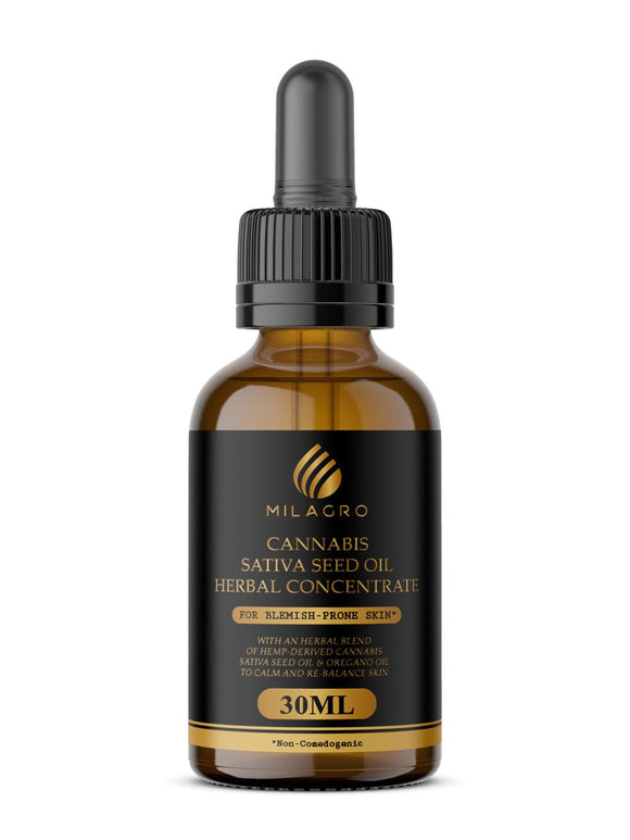 Milagro Cannabis Sativa Seed Oil Herbal Concentrate For Blemish-Prone Skin
