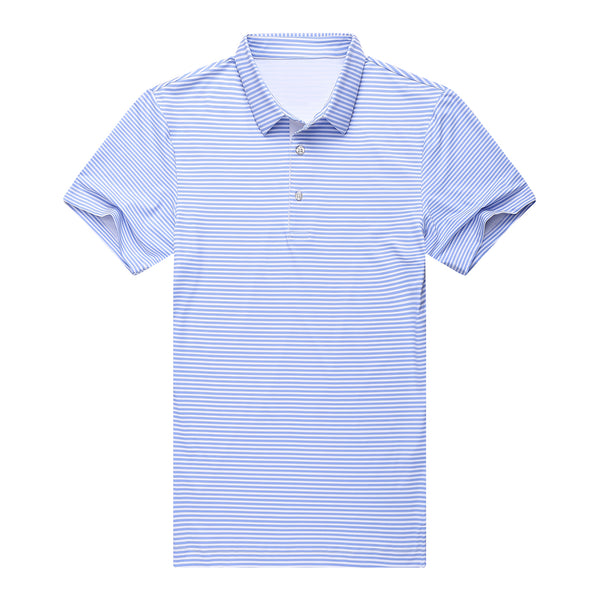Marine | Baby-Blue Stripe Polo