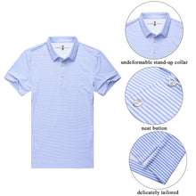 Load image into Gallery viewer, Marine | Baby-Blue Stripe Polo