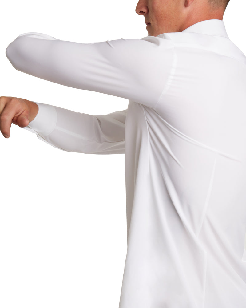 White | Performance Fabric Dress Shirt