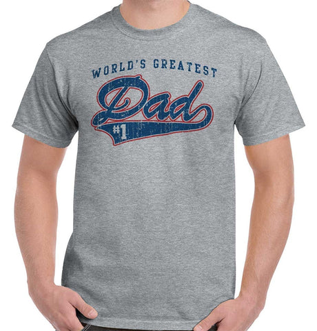 4a3e5816a #1 World Greatest Dad Shirt   Father Day Gift Idea Cool Cute T-shirt