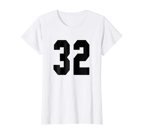 32 Team Sports Jersey Front   Back Number Player Fan Tee 3da0bdb19