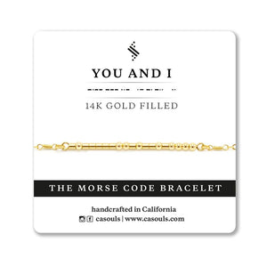 "CA Souls - ""You and I"" Bracelet - 14k Gold Filled"