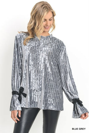 Crushed Velvet silver top