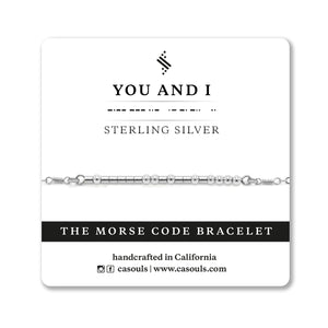 "CA Souls - ""You and I"" Bracelet - Sterling Silver"