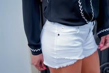 Elan White Denim Shorts