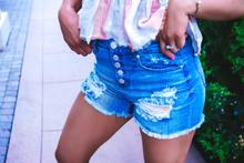 elan denim shorts