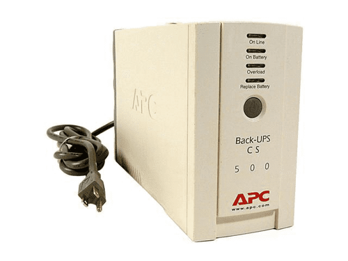 APC Back-UPS CS 500VA 500 VA 120 V AC - 3 Minute Stand-by Time - 3 x NEMA 5-15R, 3 x NEMA 5-15R 6OUT