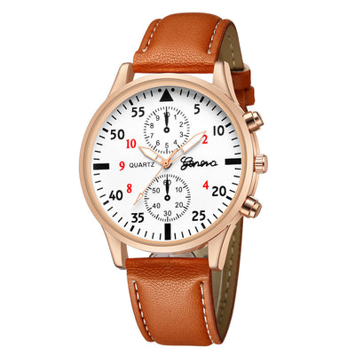 Reloje Women Faux Leather Watch