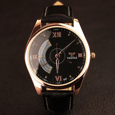 Business Casual Leather Strap Watch