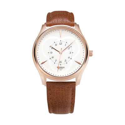 Leather Strap Men Watch