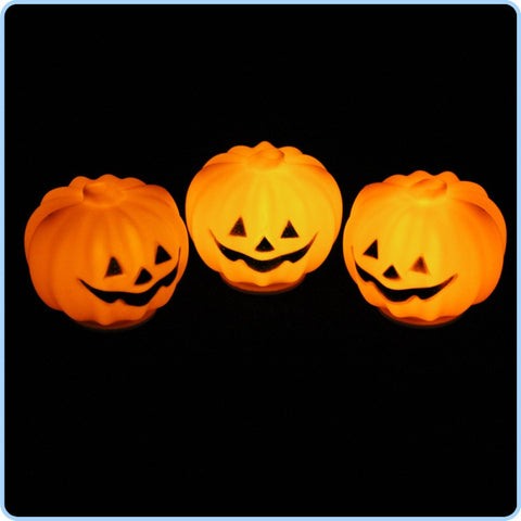 Halloween Jack-O-Lantern Pumpkin LED Light - Widgetcityhub