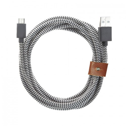 Zebra ™ Ultra Durable Braided Cable USB Type C - Widgetcityhub
