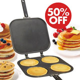 PERFECT PANCAKE PAN™ FOUR PLATES NON STICK PAN