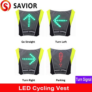SAVIOR cycling vest Signal Light Indicator Remote Control LED Bike lights vest for Backpack,outdoor hiking/camping bicycle vest - Widgetcityhub